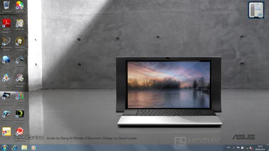 """Ноутбук ASUS NX90Jq: вид """"рабочего стола"""" Windows"""