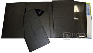 Ноутбук ASUS NX90Jq: конверт с печатной продукцией и диском ПО