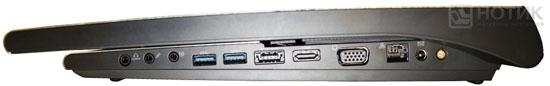 Ноутбук ASUS NX90Jq: правая боковая  грань
