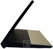 Ноутбук ASUS NX90Jq полуоткрытый, вид сбоку