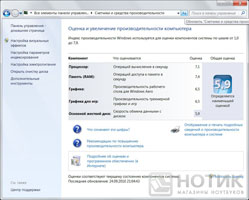 Ноутбук ASUS NX90Jq: Тест Windows 7