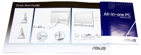 Моноблок ASUS Eee Top PC 2400 INT : руководство и гарантийный талон