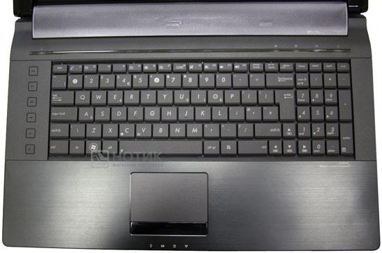 Ноутбук Asus N73Jn, клавиатура