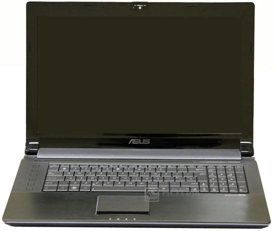 Ноутбук Asus N73JN с открытой крышкой