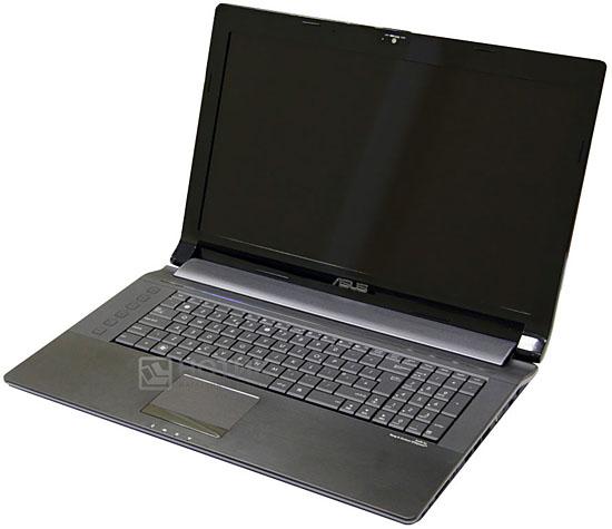 Ноутбук Asus N73Jn, в нормальном раскрытии