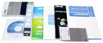 Руководство по эксплуатации,  салфетка из микрофибры, диск с фирменным софтом и драйверами для  ноутбука Asus N61JQ