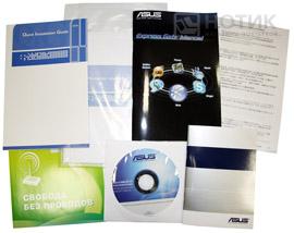 Ноутбук ASUS N53Jn : руководства, гарантийный талон, листовки и диск с драйверами из комплекта поставки