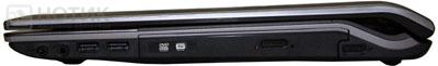 Ноутбук ASUS N53Jn : правая сторона