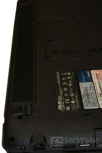 Ноутбук Asus K52Je : батарея установлена