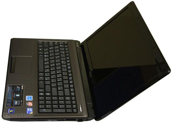 Ноутбук Asus K52Je максимально открытый