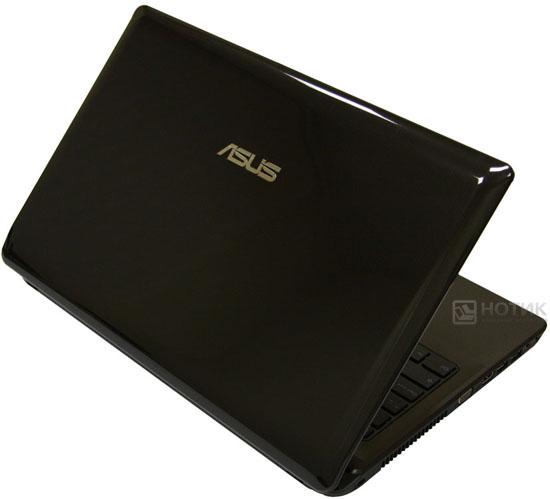 Ноутбук Asus K52Je полуоткрытый