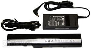 Ноутбук Asus K52Je : батарея и адаптер для зарядки и питания