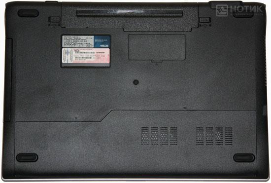 Ноутбук ASUS N53Jn : тыльная сторона