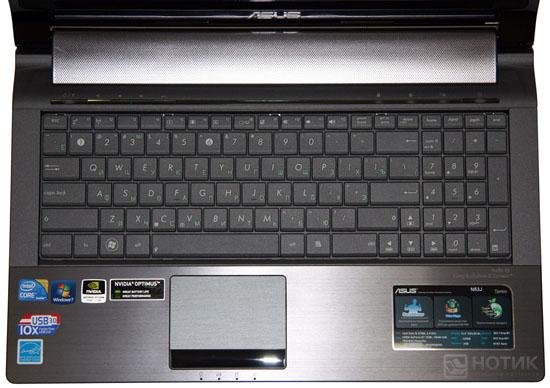 Ноутбук ASUS N53Jn : клавиатура