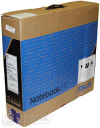 Ноутбук Asus P52Jс: упаковочная коробка