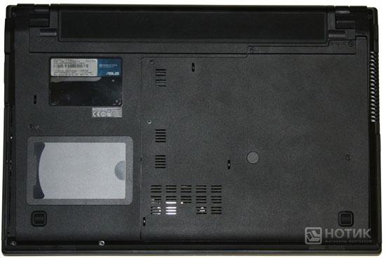 Ноутбук Asus P52Jс : тыльная сторона