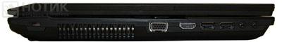 Ноутбук Asus P52Jс : левая грань