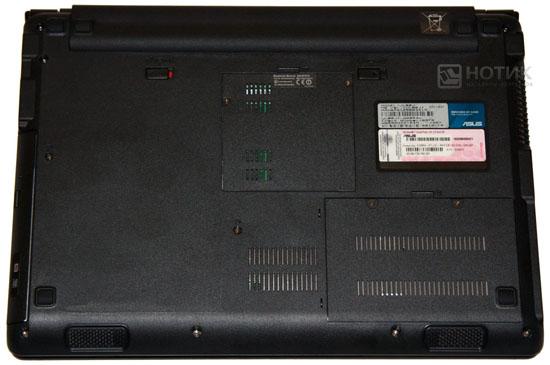 Ноутбук Asus UL80Jt : нижняя сторона