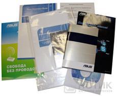 Ноутбук Asus UL80Jt : комплект печатных изданий, салфетка и диск