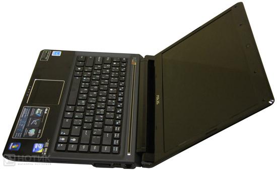 Ноутбук Asus UL80Jt в максимальном раскрытии