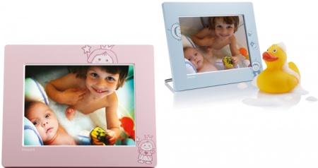 """Цифровая фоторамка Philips SPF2107/10 7"""" 194x159x93 + 2 сменные рамки (голубая, розовая)"""