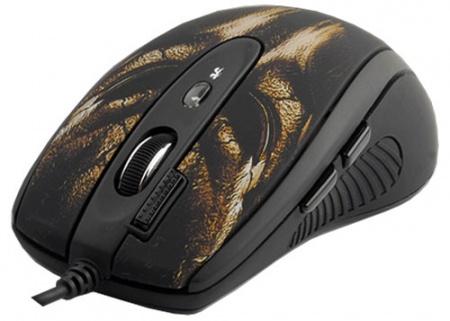 Мышь проводная A4Tech XL-750BH 3600dpi, Черный/Коричневый от Нотик