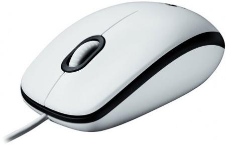 Мышь проводная Logitech M100 , 1000dpi , USB (910-001605) Белый