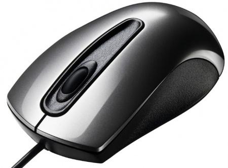 Мышь проводная Asus UT200 Optical Grey 1000 dpi (V2) 90-XB0L00MU00030, Серый