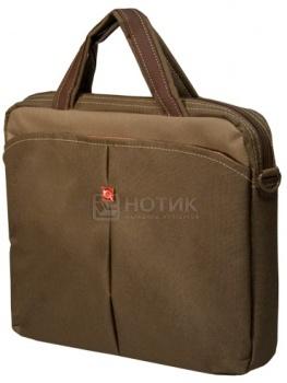 """Фотография товара сумка 13,3"""" Continent CC-013 Safari нейлон, Коричневый (13496)"""