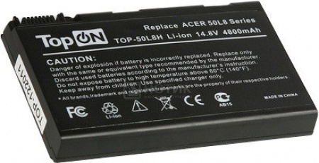 Аккумулятор TopON TOP-50L8H 14.8V 4800mAh для Acer PN: BATBL50L8H аккумулятор topon top clev2200 4800mah for clevo 2200 2700с 2800t iru intro 1214 roverbook b410 b415 kt5 kt6 series