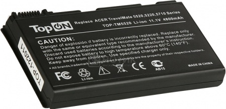 Аккумулятор TopON TOP-TM5520 11.1V 4800mAh для Acer PN: TM00741 TM00751 GRAPE32 от Нотик