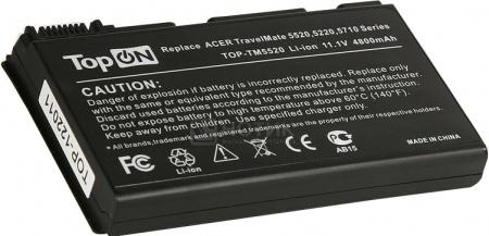 Аккумулятор TopON TOP-TM5520 11.1V 4800mAh для Acer PN: TM00741 TM00751 GRAPE32TopON<br>Аккумулятор TopON TOP-TM5520 11.1V 4800mAh для Acer PN: TM00741 TM00751 GRAPE32<br>
