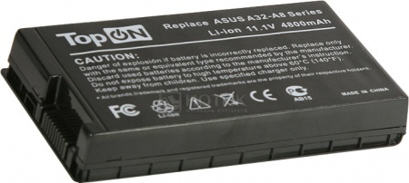 Аккумулятор TopON TOP-A8/A32-A8 11.1V 4800mAh для Asus PN: A32-A8 70-NF51B1000 90-NF51B1000 от Нотик