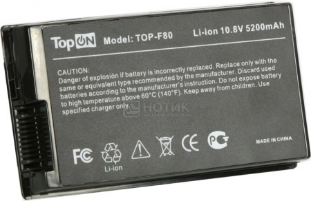 Аккумулятор TopON TOP-F80 10.8V 5200mAh для Asus PN: A32-F80A A32-F80H 70-NF51B1000 90-NF51B1000 от Нотик