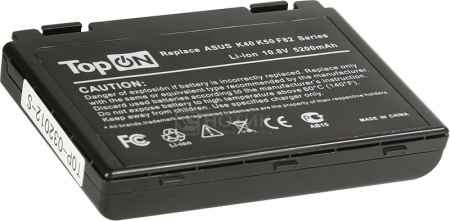Аккумулятор TopON TOP-K50/A32-F82 11.1V 4400mAh для Asus PN: A31-F82 A32-F82 A32-F52 L0690L6 90-NVD1B1000Y от Нотик