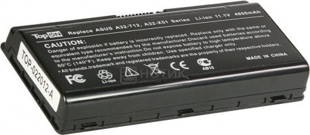 Аккумулятор TopON TOP-X51 11.1V 4800mAh для Asus PN: A32-T12 A32-X51 90-NQK1B1000Y от Нотик