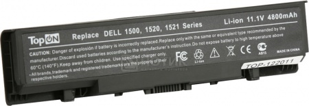 Аккумулятор TopON TOP-1520 11.1V 4800 mAh для Dell PN: FK890 GK479 451-10464 451-10465