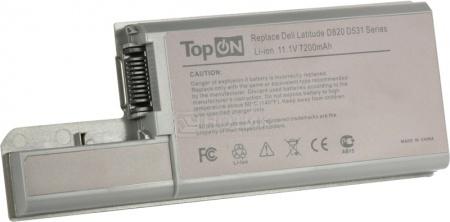 Аккумулятор TopON TOP-D820H 11.1V 7200mAh для Dell PN: CF623 YD626 DF192 CF704 XD739