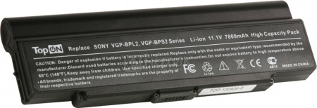 Аккумулятор TopON TOP-BPL21 (TOP-BPL21-NOCD) 11.1V 7800mAh для Sony Vaio PN: VGP-BPL2C VGP-BPS2A VGP-BPS2B VGP-BPS2C НОТИК 2990.000
