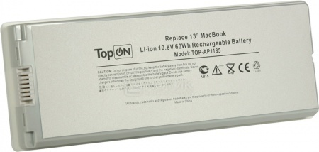 Аккумулятор TopON TOP-AP1185 White 10.8V 5600mAh для Apple PN: A1185 MA561LL/A MA561G/A apple mc704zm a white