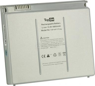 Аккумулятор TopON TOP-AP1175 10.8V 5800mAh для Apple PN: A1175 MA348G/A MA463 MA464 MA466 MA600LL MA601LL