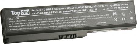 Аккумулятор TopON TOP-PA3634 10.8V 4400mAh Toshiba Satellite L310 L510 M300 M500 U400 U500 A660 A665 L600 L630 L645 L655 L670 L730 L735 L750 L775