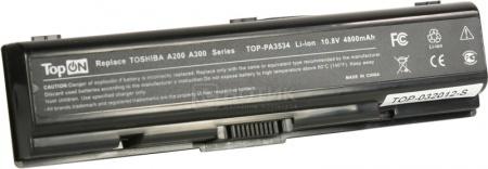 Аккумулятор TopON TOP-PA3534 Toshiba Satellite A200, A210, A300, Satellite L300. P/N: PA3534, PA3535. 10.8V 4400mAh. Гарантия 6 мес.
