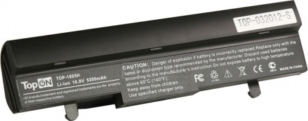Аккумулятор TopON TOP-1005H ASUS eeePC 1001, 1005. 1101, 1001PX Series Netbook 111V 4400mAh PN: AL31-1005, AL32-1005, PL32-1005. Black. Гарантия 6 мес