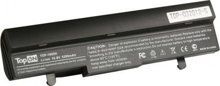 Аккумулятор TopON TOP-1005H ASUS eeePC 1001, 1005. 1101, 1001PX Series Netbook 111V 4400mAh PN: AL31-1005, AL32-1005, PL32-1005. Black. Гарантия 6 мес