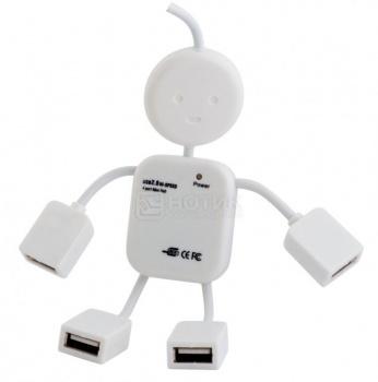 USB-хаб PC PET 4-port USB 2.0 Human Белый usb концентратор pc pet paw белый
