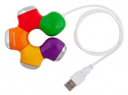 USB-хаб PC PET 4-port USB2.0 Flower 549509