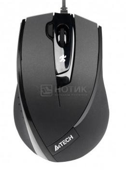 Мышь проводная A4Tech N-600X-1 USB 1600dpi, Черный от Нотик