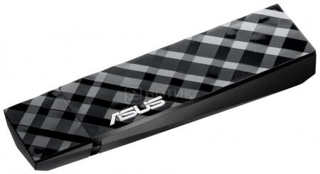 Адаптер Wi-fi  Asus USB-N53, стандарта 802.11n до 300 Мбит/с, Черный