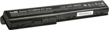 Аккумулятор TopON TOP-DV7H 14.8V 7200mAh для PN: HSTNN-IB75, HSTNN-C50C, HSTNN-Q35C, 464059-121 аккумулятор topon top nx8220 14 8v 4800mah для hp pn pb992a hstnn ub11 hstnn ob06 hstnn lb11